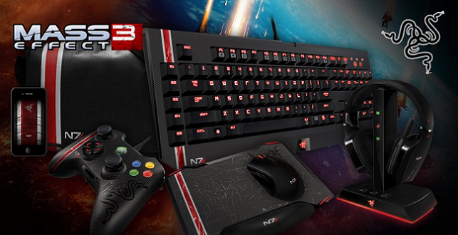 Mass Effect 3 Razer keyboard mouse headset gaming image 001