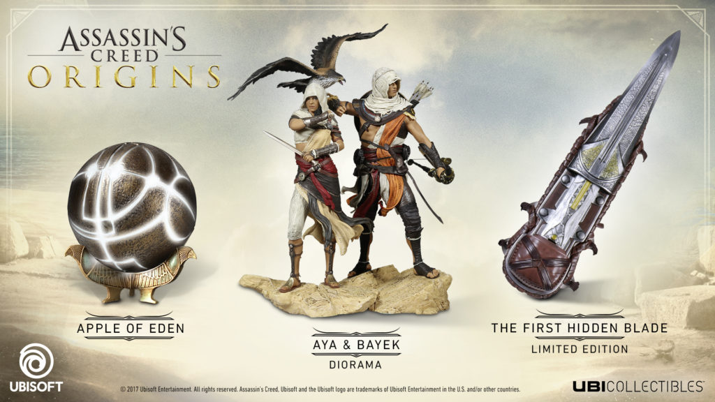 Assassin S Creed Origins Collectibles Now Available For Pre Order